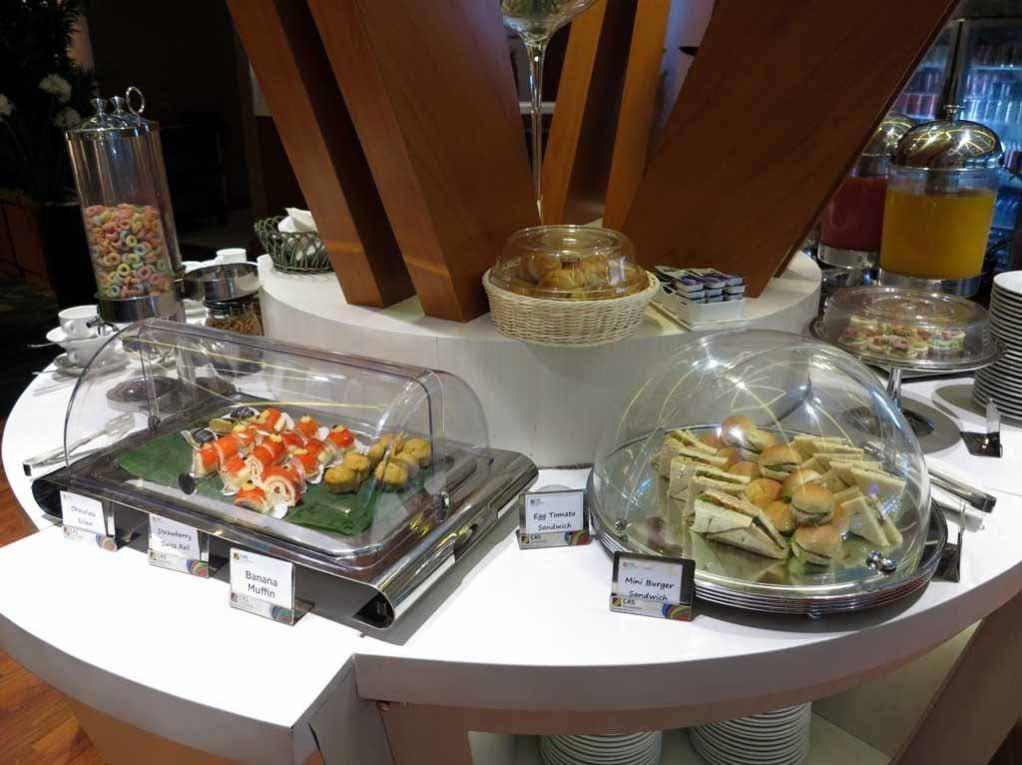 Sandwich selection at the Premier Lounge Bali.