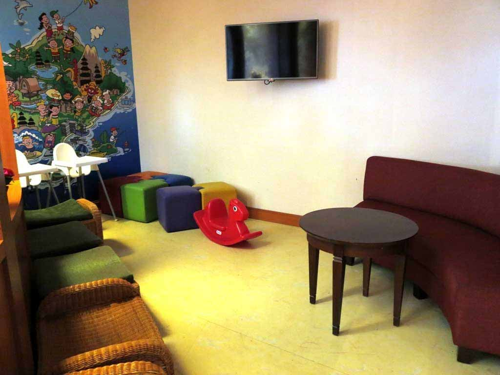 Play room at Premier Lounge Bali that can serve as a nursery