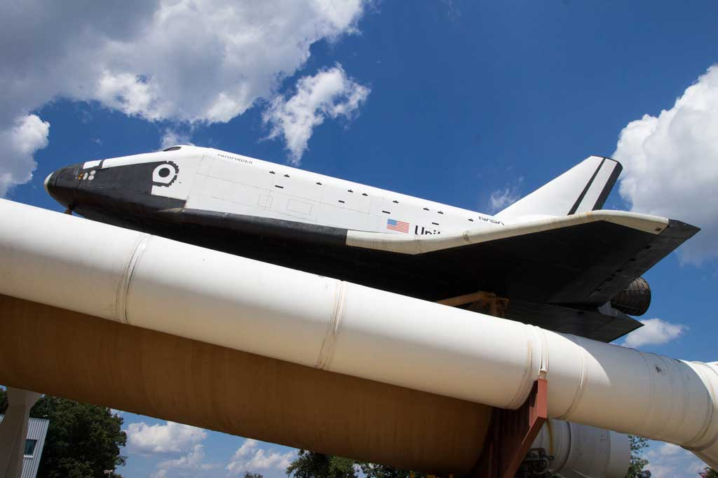 The Space shuttle Pathfinder outside the U.S. Space and Rocket Center