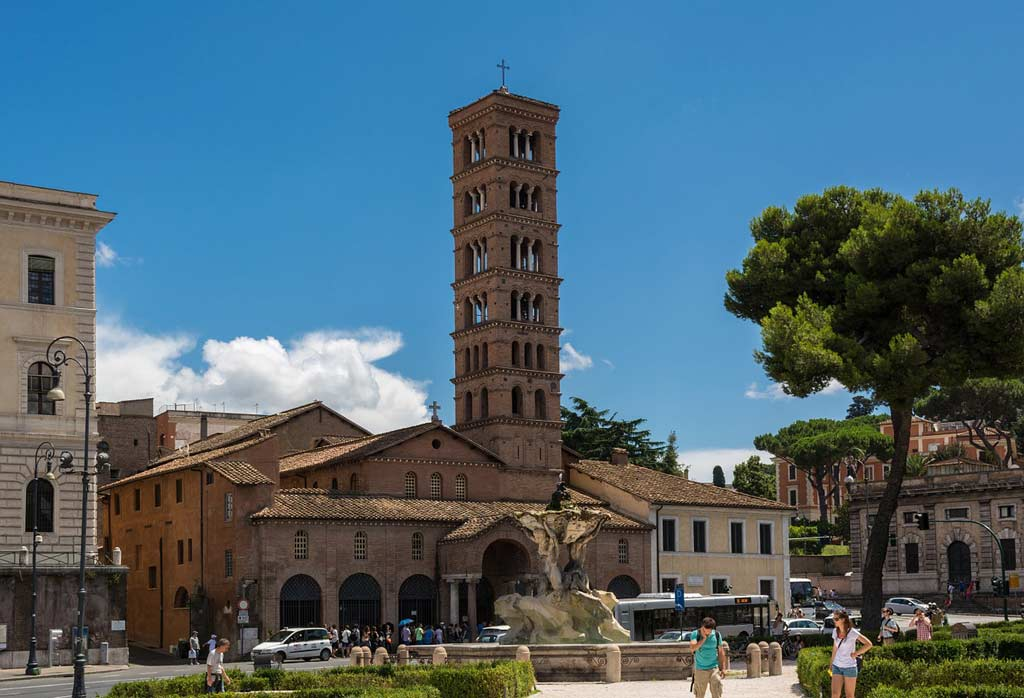 The bell tower of Santa Maria in Cosmedin