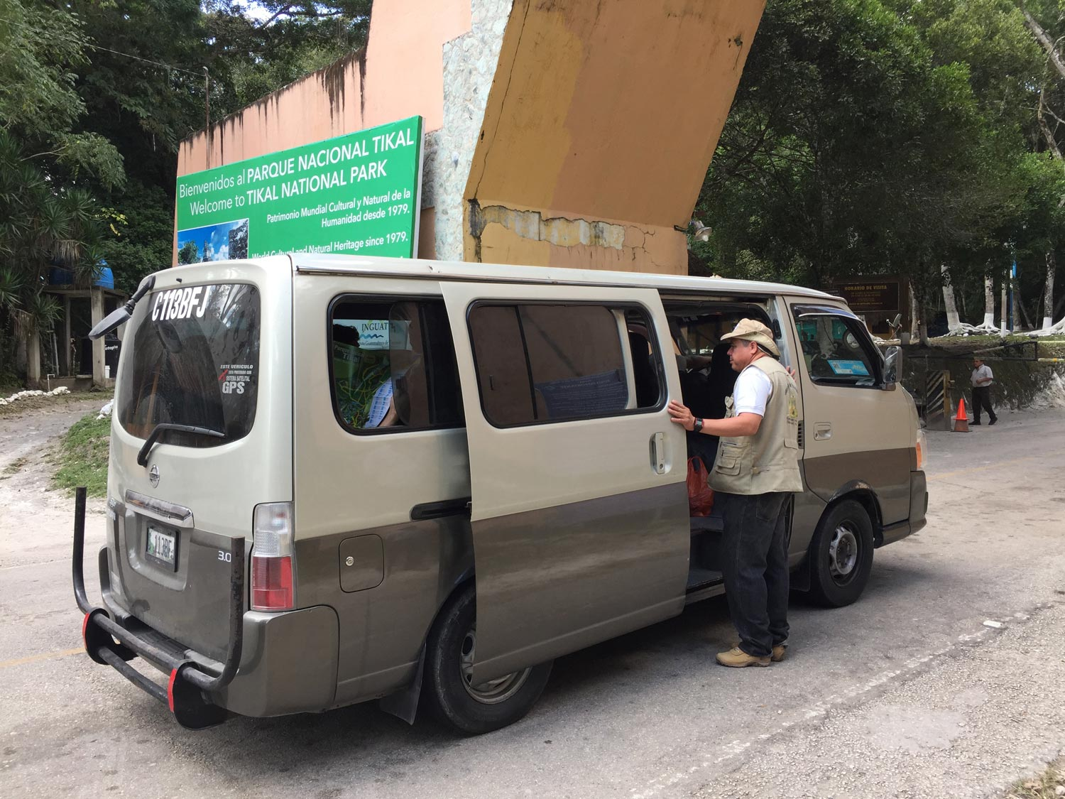 stay in Tikal National Park - minibus