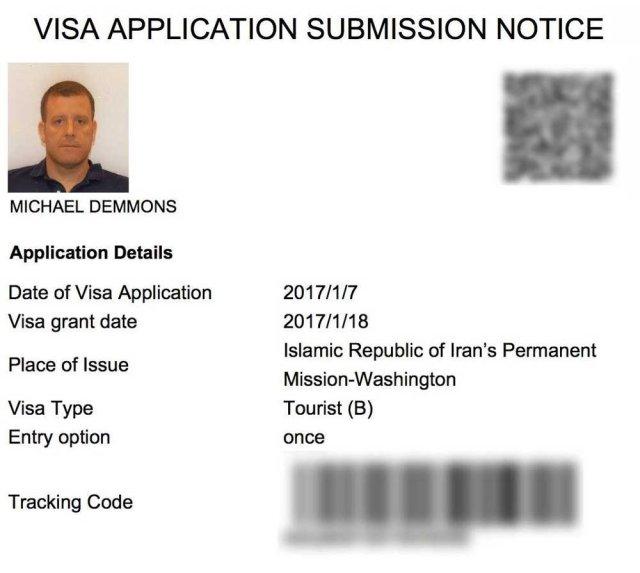 Iran-visa-authorization-sample Iran Visa Application Form For Desh on