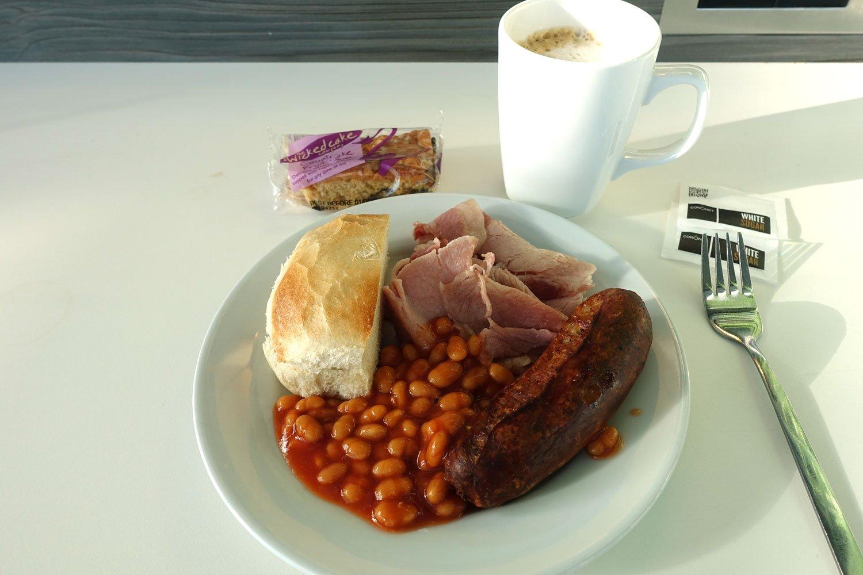 heathrow priority pass lounge - aspire lounge and spa food