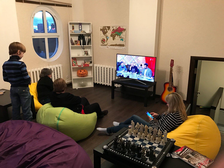 dreamy castle hostel minsk tv room