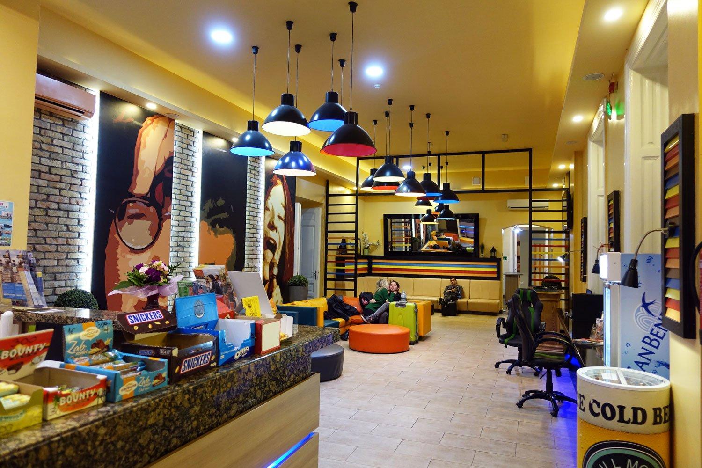 Are Hostels Better Than Hotels? full moon design hostel budapest main area
