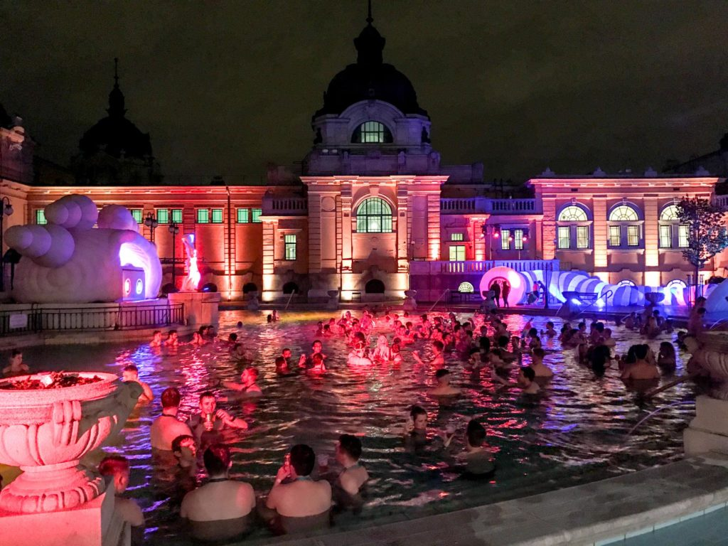 unusual things to do in Budapest Szechenyi baths sparty pool