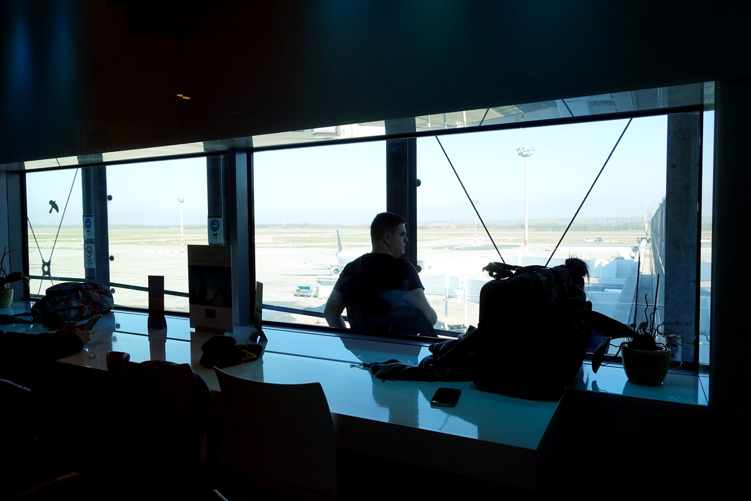 menzies aviation lounge budapest view