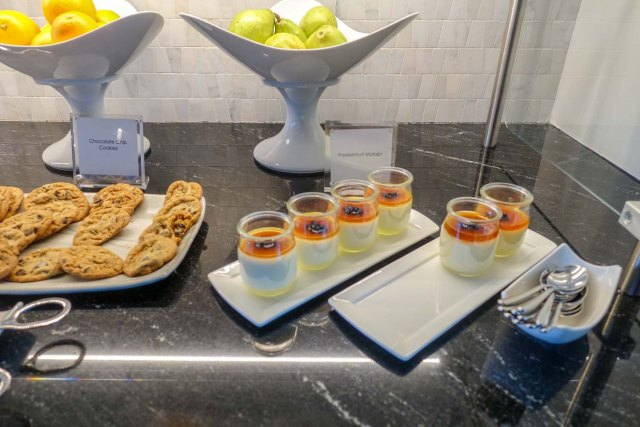 The dessert bar at Centurion Lounge in Philadelphia