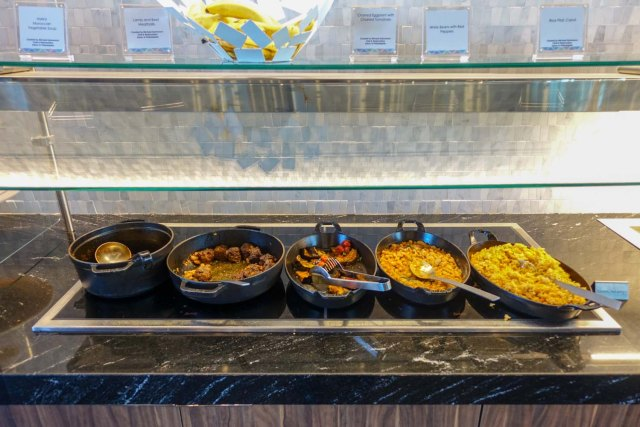 Entrees at Centurion lounge in philadelphia