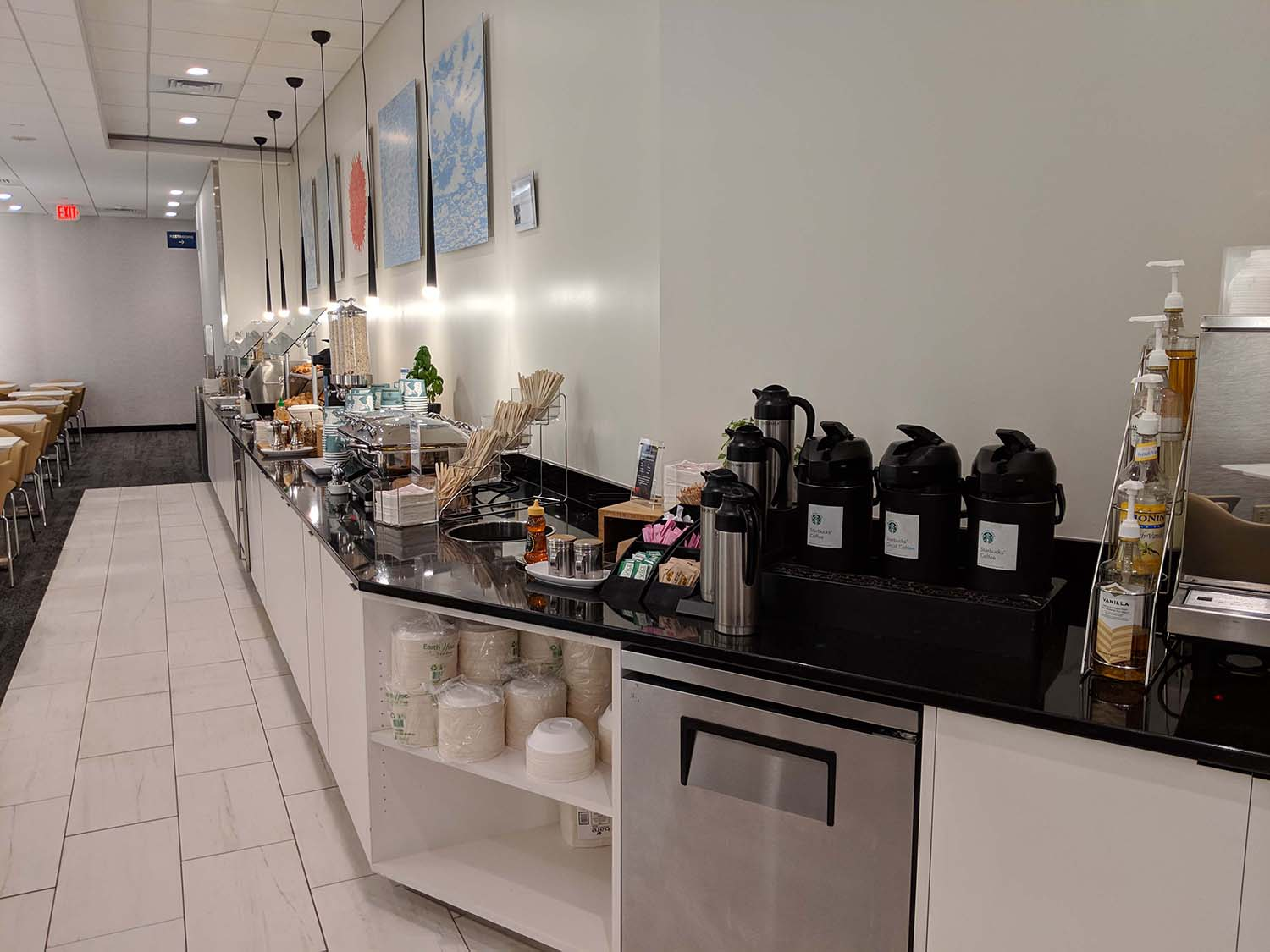 Delta Sky club in Fort lauderdale food