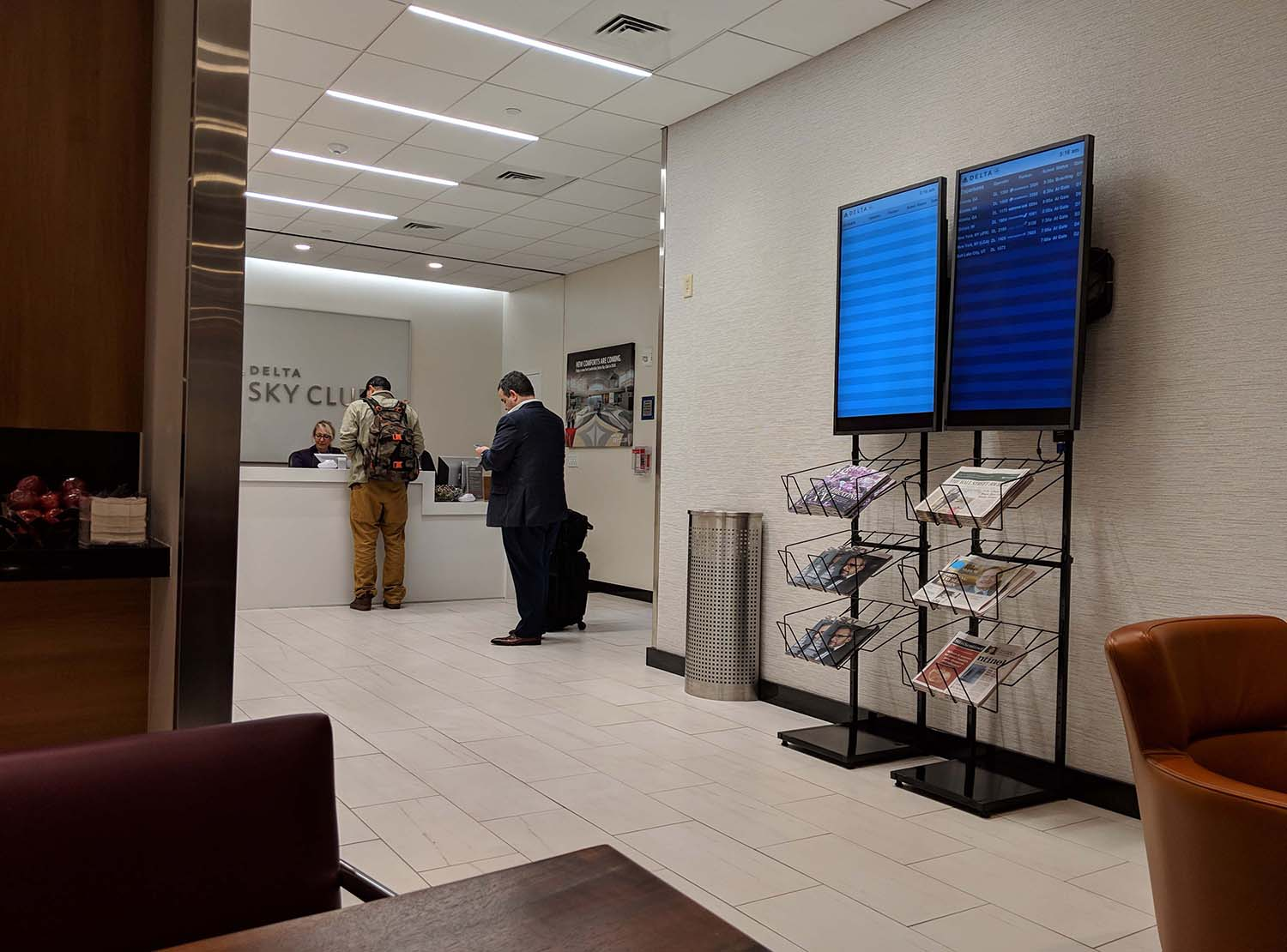 Delta Sky Club in Fort Lauderdale reception