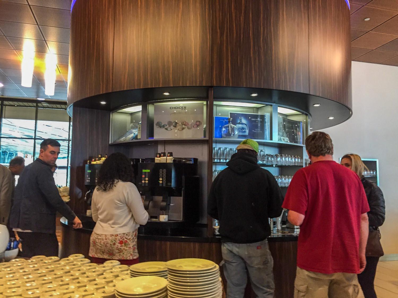KLM Crown Lounge 52 coffee machines