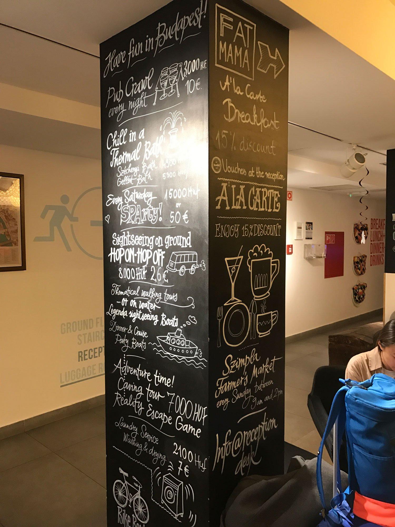 budapest maverick lodge hostel tourist info