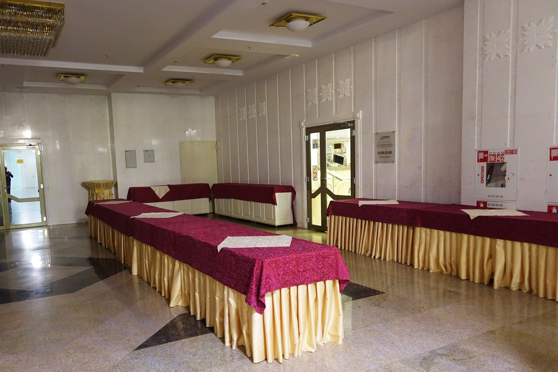Banquet hall inside the hotel belarus