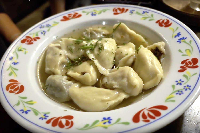 Belarus Food in Minsk Restaurants - dumplings