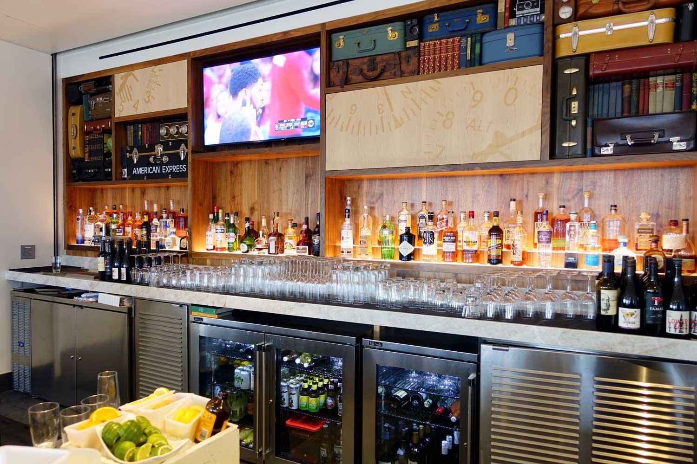 Centurion Lounge Seattle bar