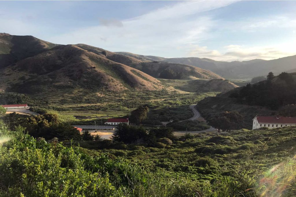 The view from Marin Headlands Hostel. a beautiful landscape