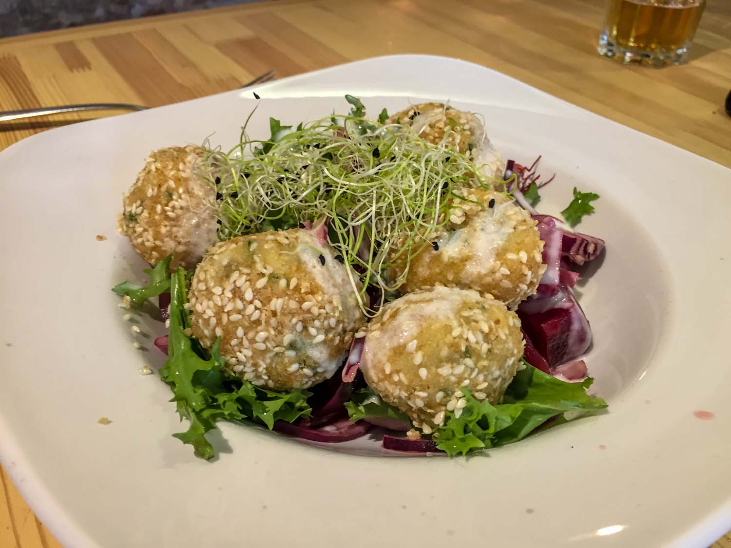 Budapest Makery - Sheep Cottage Cheese Dumplings with Baked Beetroot