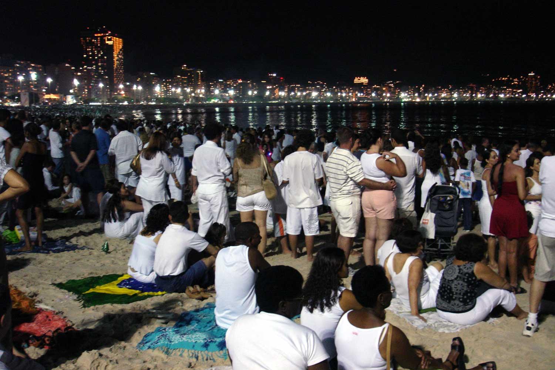 Brazilian New Years Eve Copacabana beach