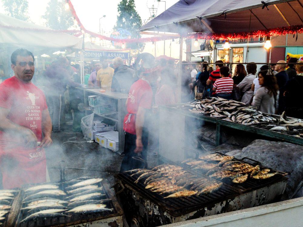 Lisbon Sardine Festival: Grilling sardines