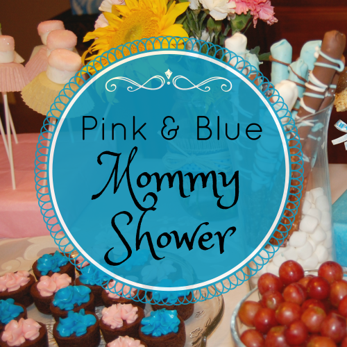Pink and Blue Mommy Shower square