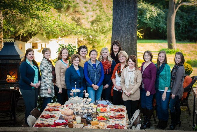 Pinterest Partiers at our autumn tea party