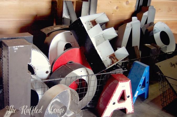 14. Magnolia metal letters