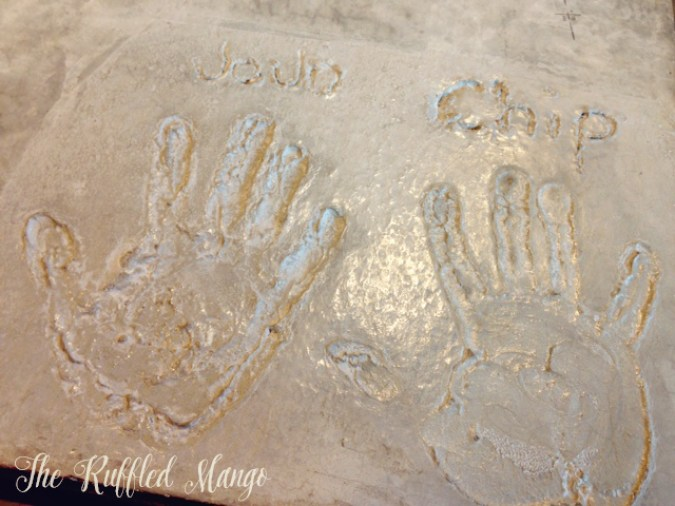 31. Chip and JoJo's handprints