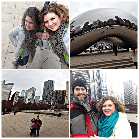 K and J in Chicago collage