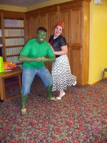 The Incredible Hulk and Lucille Ball - another classic duo!