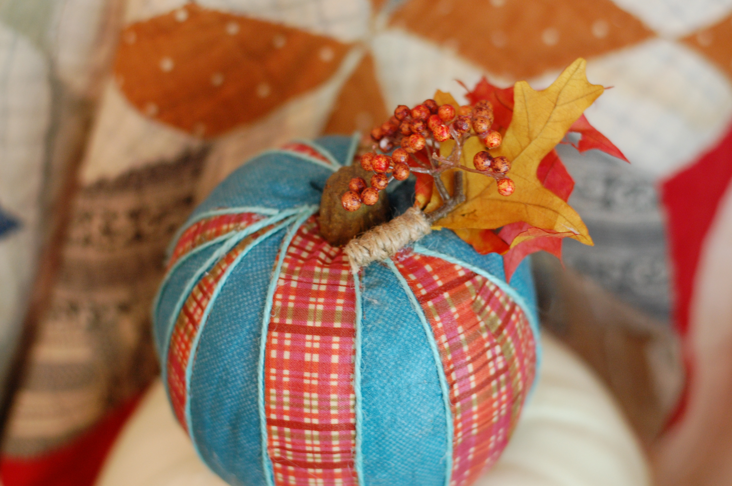 Easy Fabric Covered Pumpkins Modpodged Faux Pumpkins