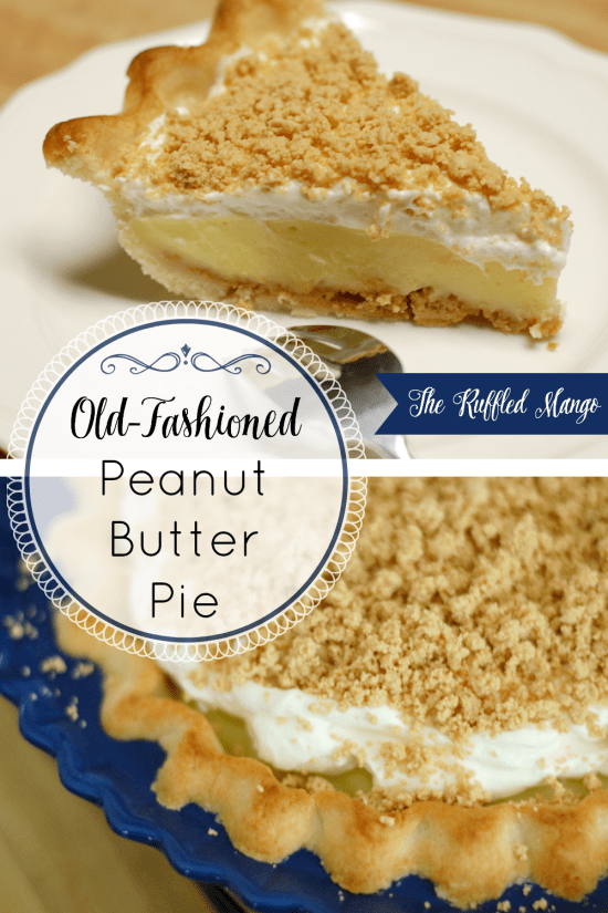 This old-fashioned peanut butter pie recipe is our family's favorite peanut butter pie of all time! There's just no way to beat a homemade crust layered with peanut butter crumbles, vanilla custard, and whipped cream.