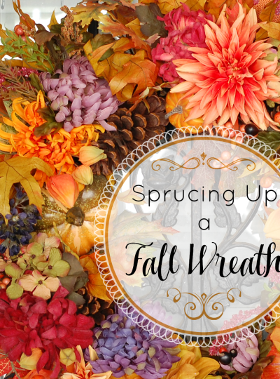 Sprucing Up a Fall Wreath