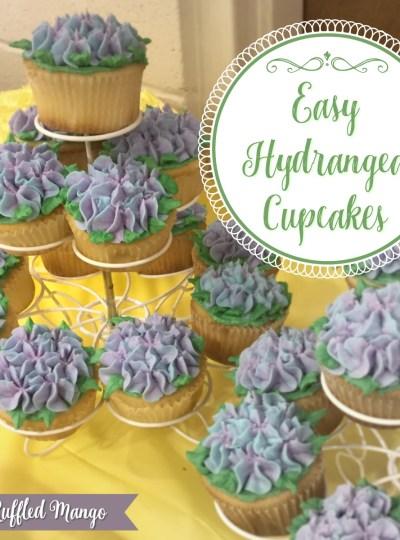 Easy Hydrangea Cupcakes