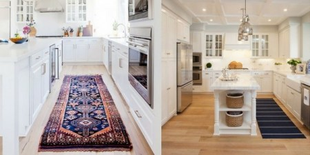 How To Choose The Best Kitchen Rugs   The Rug Seller best kitchen rugs collage of kitchen runners in a galley kitchen and one  next to an