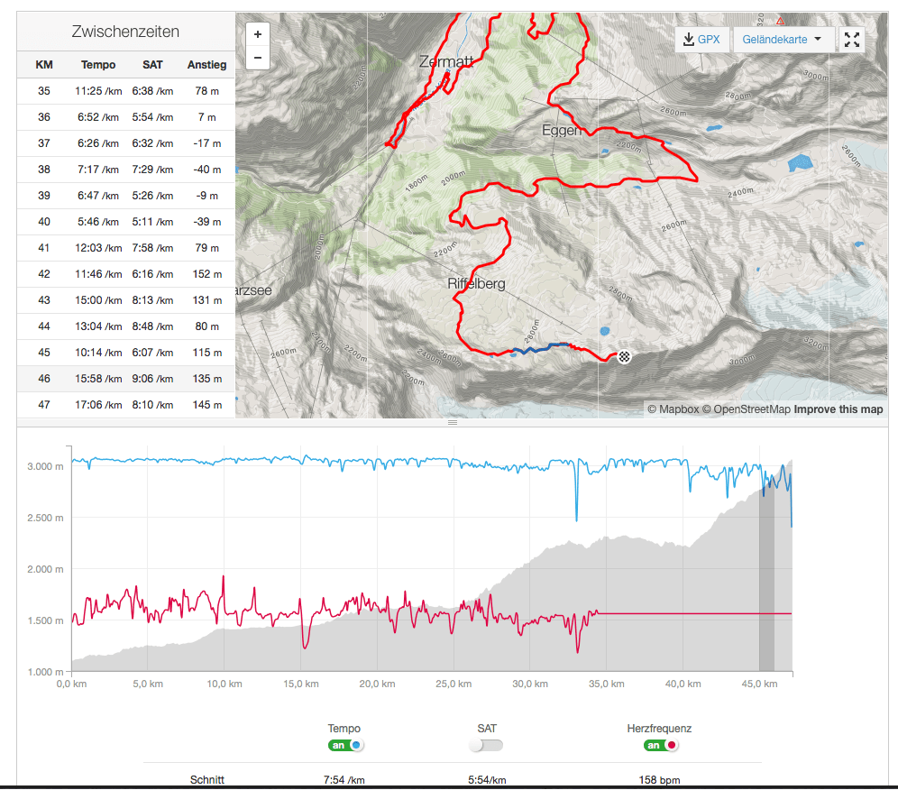 Analyze a run on the Strava website
