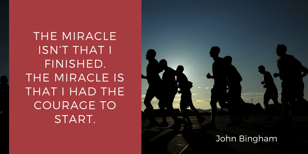 Quote by american runner John Bingham. He's right about that!