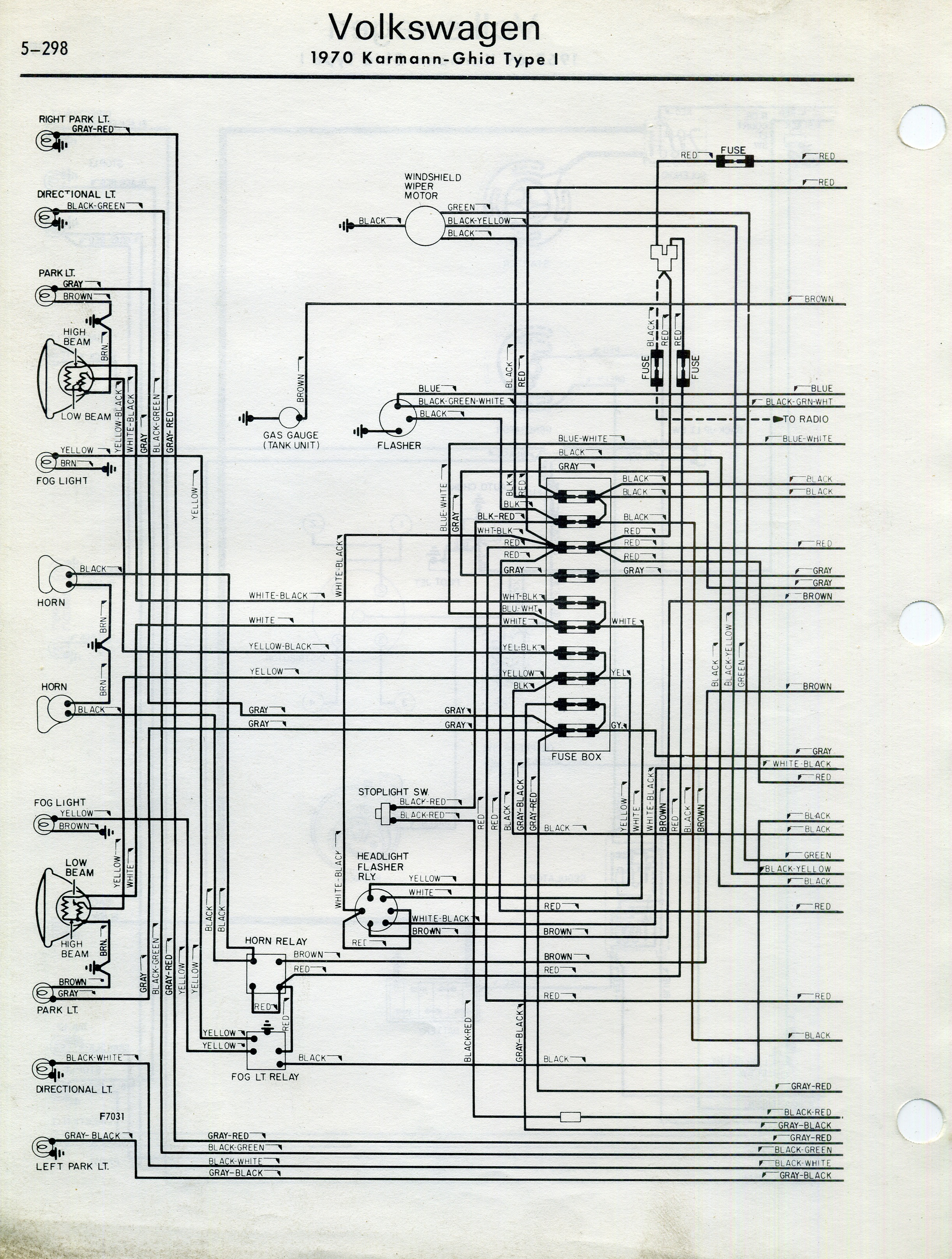 Karmann Ghia Wiring Diagram