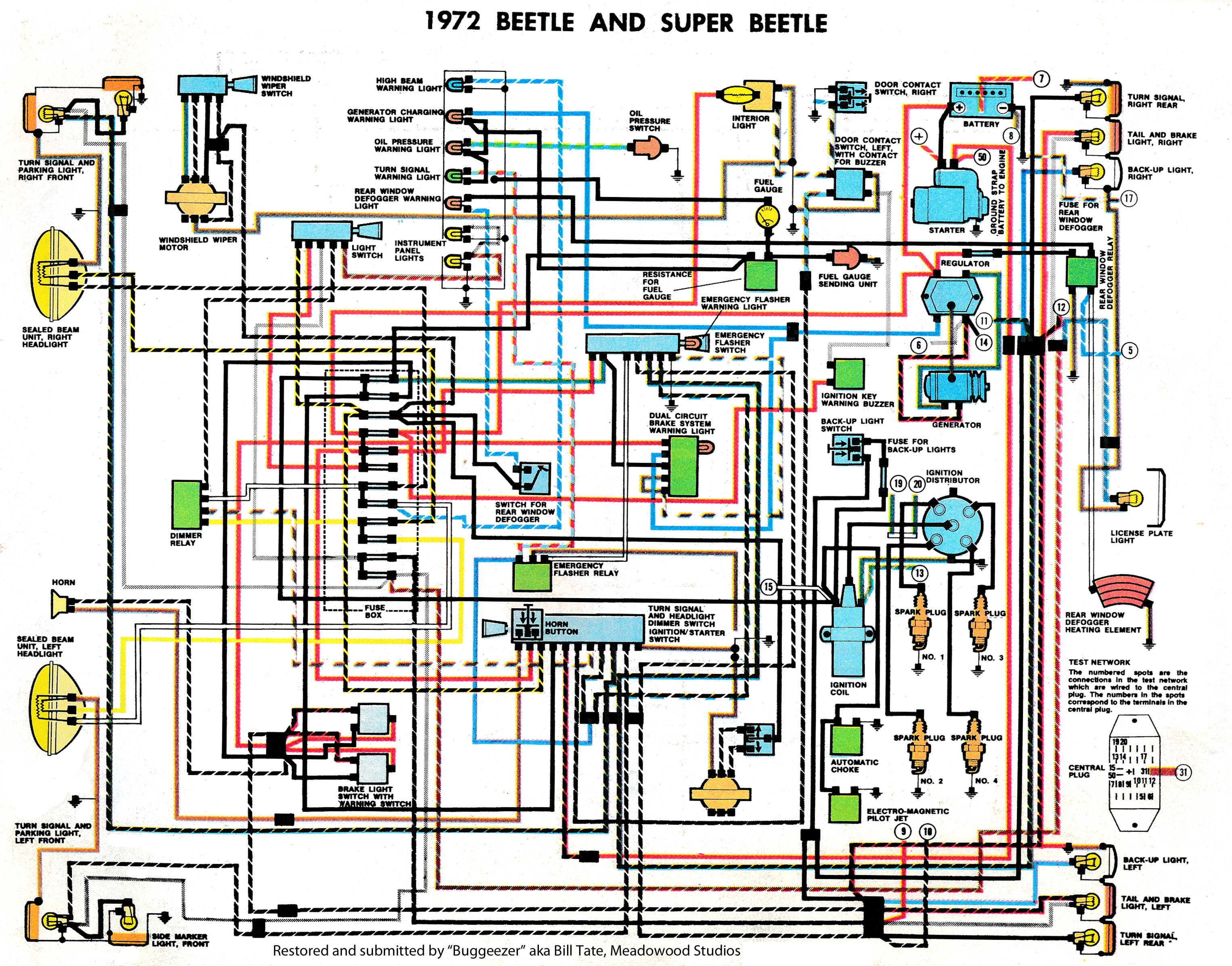 Vw Beetle Wiring Diagram Vw Beetle Wiring Diagram 1970 Camaro Rs Vw