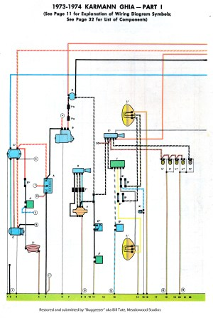 TheSamba :: Karmann Ghia Wiring Diagrams