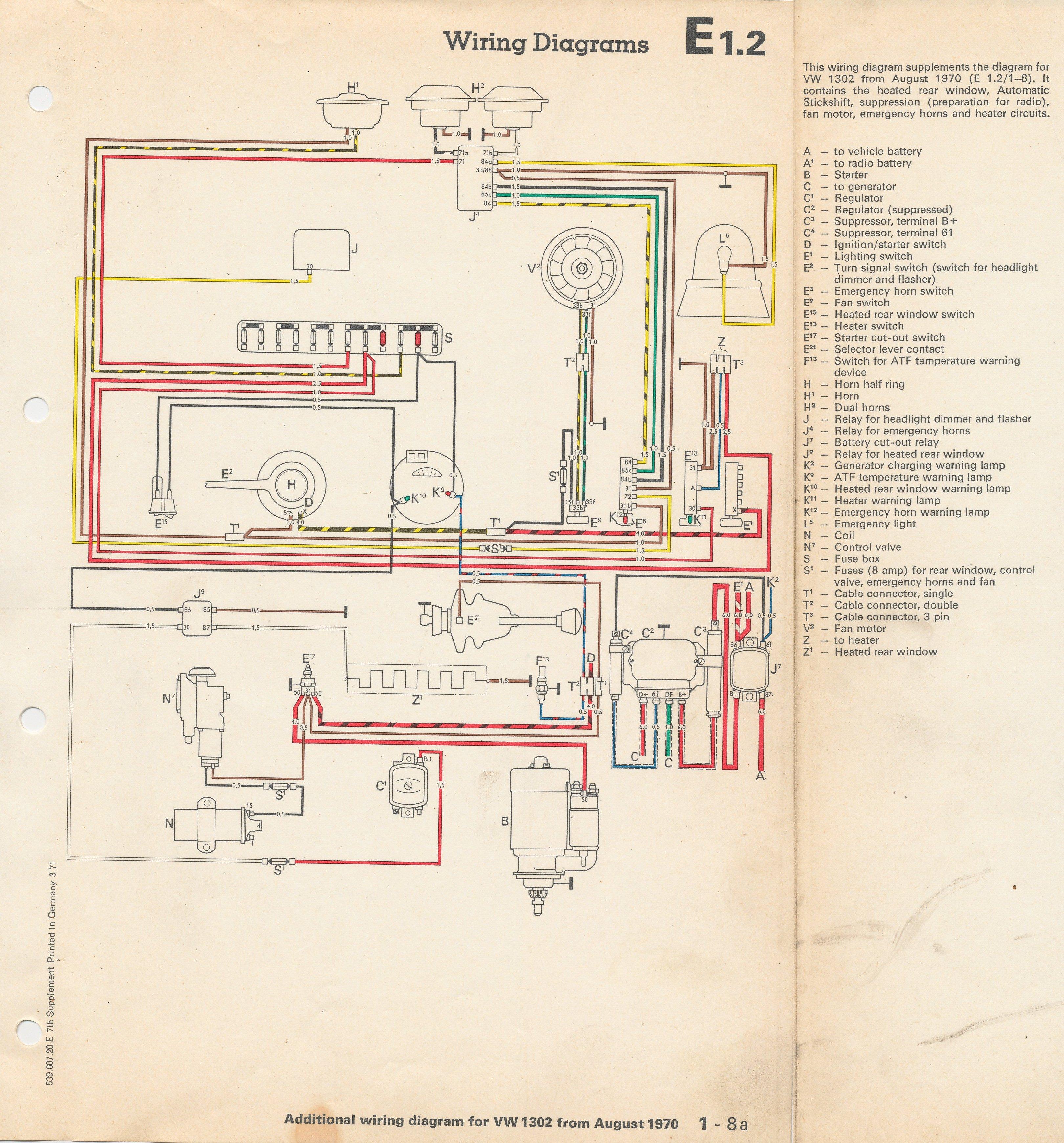 1958 vw van wiring diagram vw beetle generator wiring