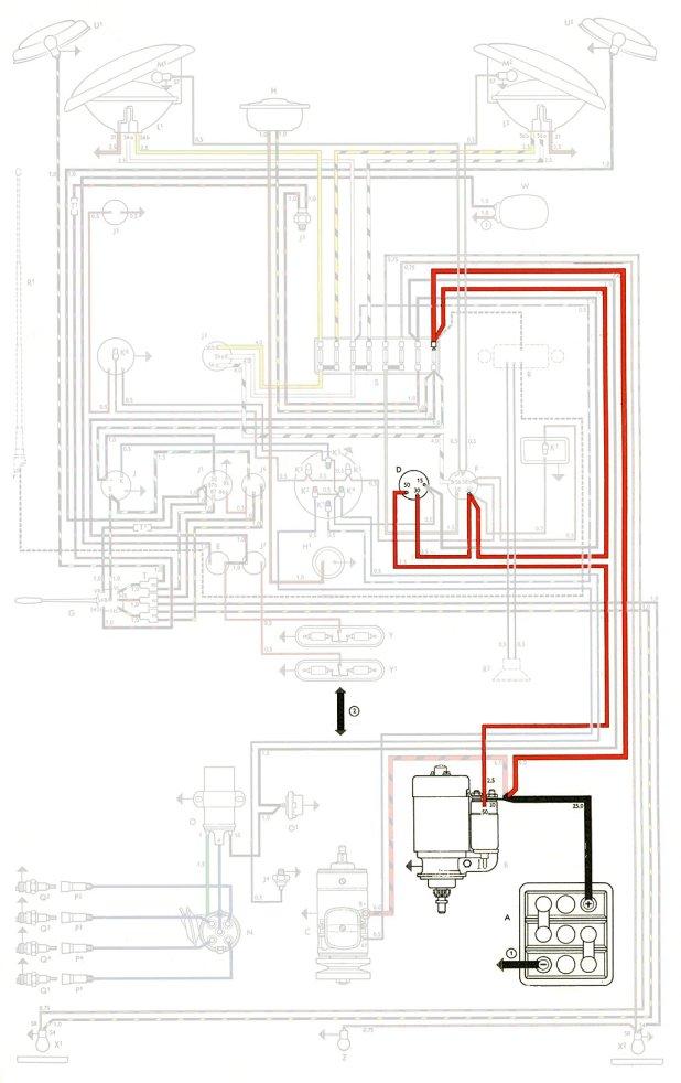 vw trike wiring harness 1968 vw beetle wiring harness #10