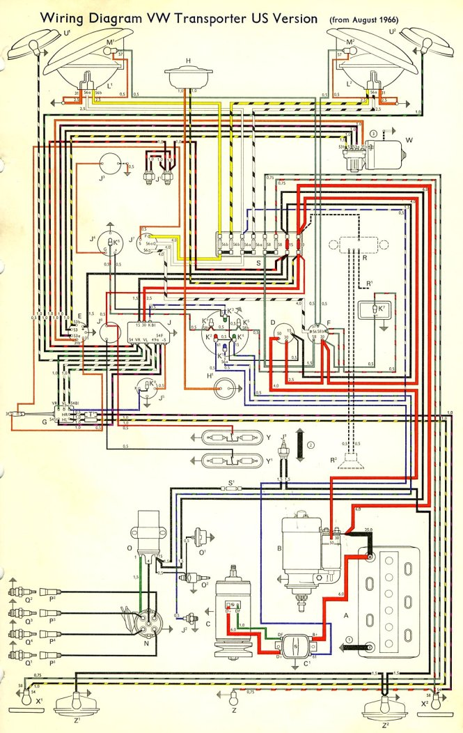 volkswagen t2 wiring diagram volkswagen wiring diagrams