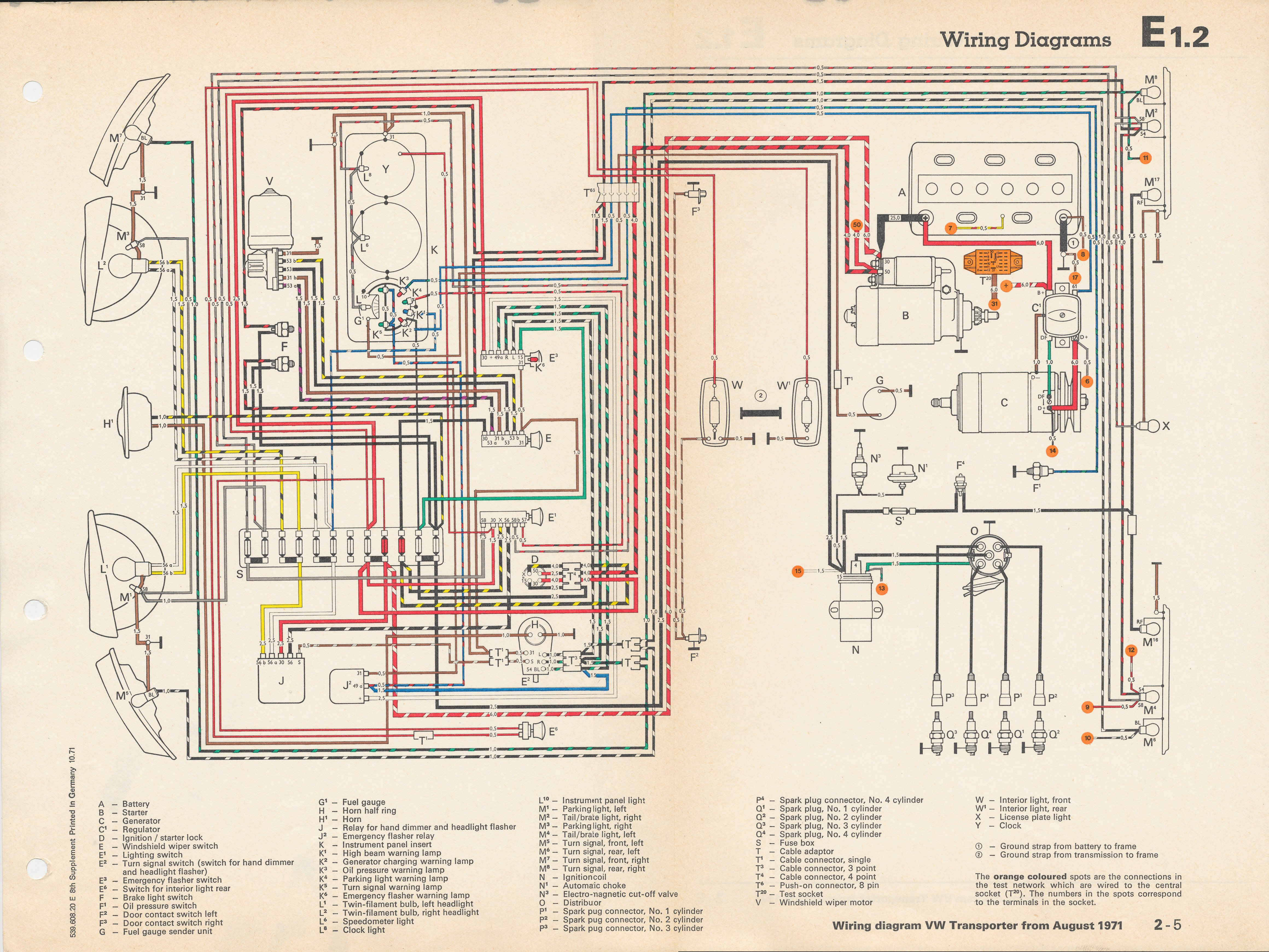 Wiring Diagram 1967 Vw Bus Electrical Diagrams Bug Fuse Box 1969 For Light Switch U2022 67