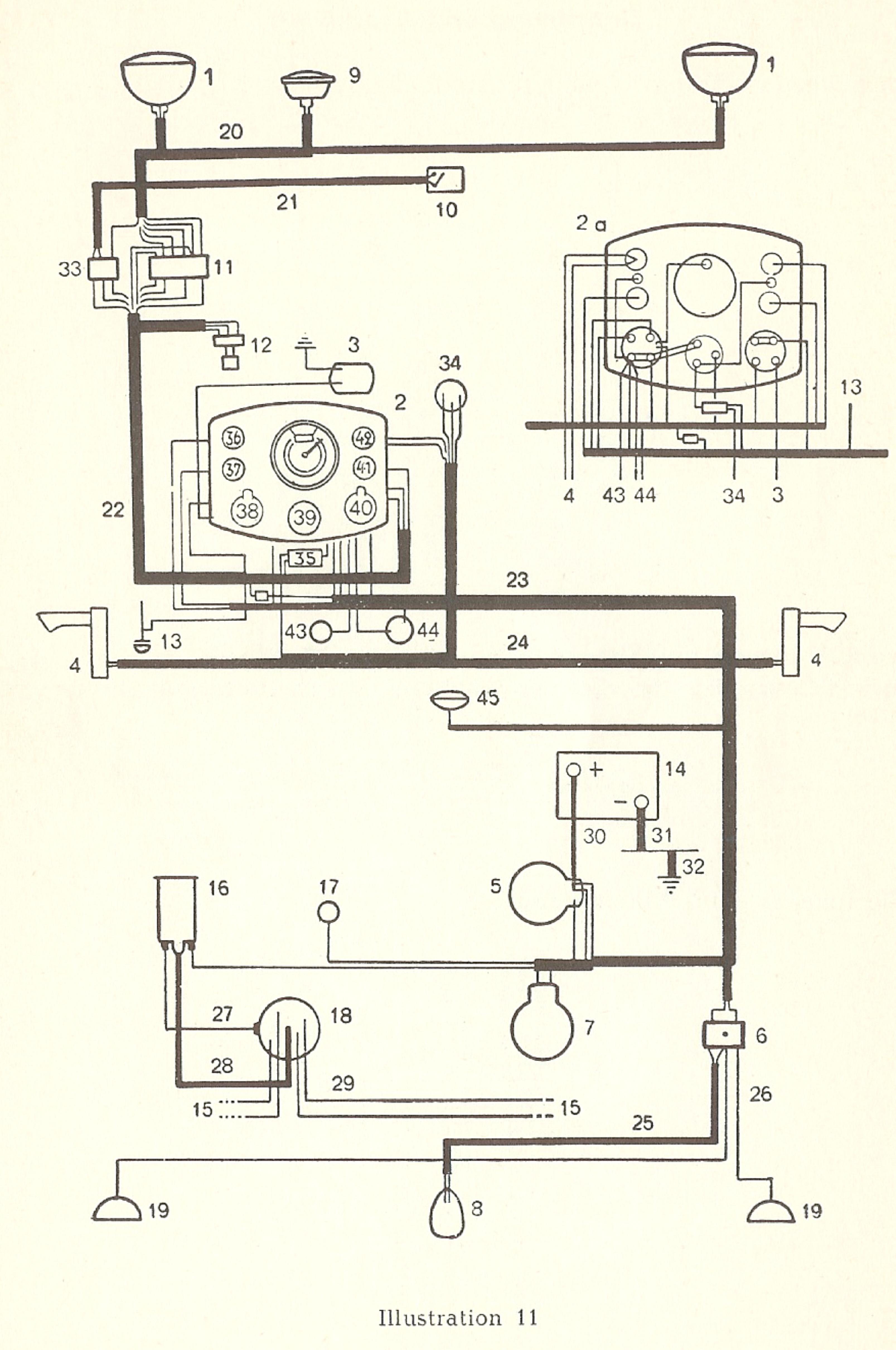 WRG-0325] 11x17 Color Wiring Diagram 1971 Vw Super Beetle Bug on