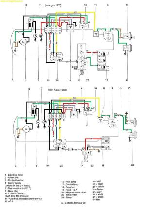 [WRG4083] Espar D2 Heater Wiring Diagram
