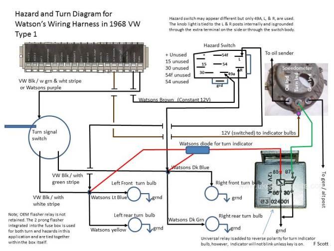 67 vw bug turn signal wiring  wiring diagrams database van