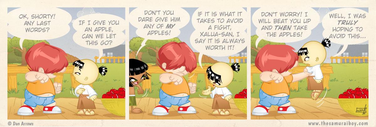 How to avoid a fight - Samurai Boy