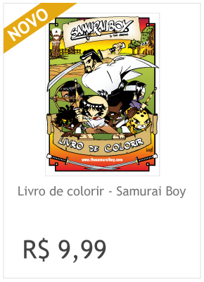 Livro de colorir Samurai Boy