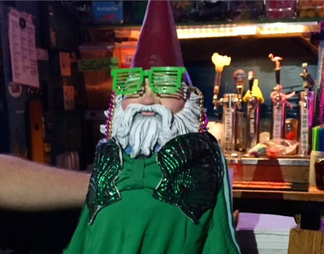 Roaming Gnome dons the mermaid costume | www.thesandbar.com